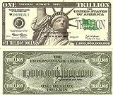 Novelty Dollar Statue Of Liberty New York Trillion Dollar Bills X 4