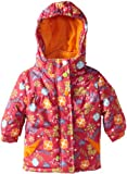 Rugged Bear Baby-girls Infant Floral Printed Ski Jacket