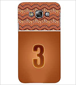 PrintDhaba Numerology Number 3 D-3635 Back Case Cover for SAMSUNG GALAXY A7 (Multi-Coloured)