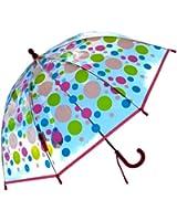 RainStoppers Kid's Plastic Dots Print Umbrella, 34-Inch