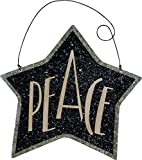 Hanging PEACE Star Shaped Tin Sign