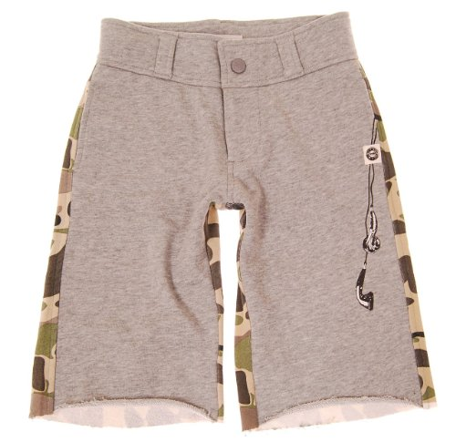 Mini Shatsu Boys Camouflage Earbuds Shorts - 12M - Brown front-808487