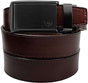 Mahogany Full Grain Leather with Winged Gunmetal Buckle