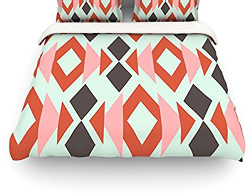 Coral Duvet Cover Queen front-1032846