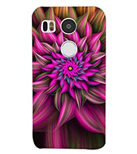 PrintDhaba PINK FLOWER D-6785 Back Case Cover for LG NEXUS 5X (Multi-Coloured)