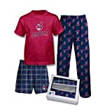 adidas Boy's Cleveland Indians 3-pc. Pajama Set (M 10/12) at Amazon.com