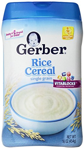 Gerber Single-Grain Rice Baby Cereal, 16 Ounce (Pack of 6) (Gmo Free Rice Cereal compare prices)