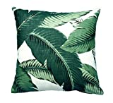 BrockOutletStore Pillowcases The leaves of a green palm tree 18x18(inches)