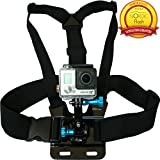 Chest Mount Harness for GoPro Cameras - Adjustable Body Strap Rig + 3-Way Adjustment Base with Aluminum Thumbscrew Kit - Fits ALL Go Pro Hero Models, HERO4, HERO3+ Black Edition, HERO3, HERO2, HERO1, HD & SJ4000 etc. - By Premium Camera Accessories Brand Nordic Flash™ - 1 Year Warranty