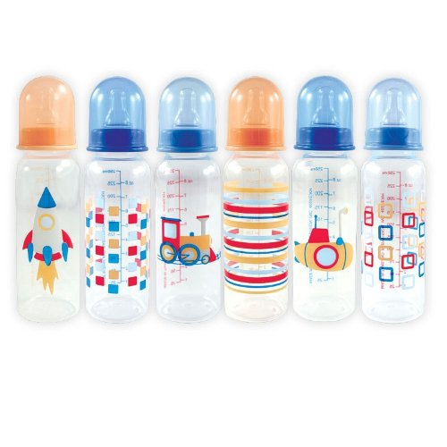 Nurtria Regular Neck Bottles with Organizer, Blue, 6-Count - 1