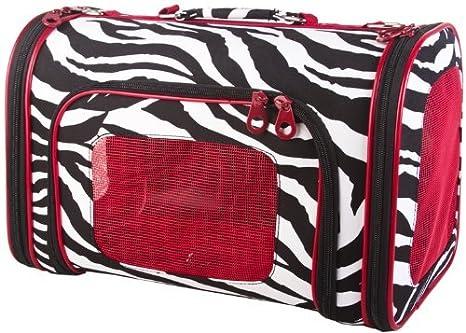 Zebra Pet Carrier Purple Zebra Pet Carrier