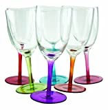 DCI Tipsy 10-Ounce Swirling Wine Glasses, Set of 6