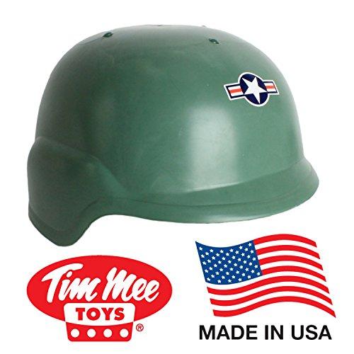 TimMee Kid Size Green Modern Army Helmet: Adjustable Headband - Made in USA!
