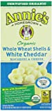 Annie's Homegrown Organic Whole Wheat Shells & Cheddar, 6-Ounce Boxes (Pack of 12)