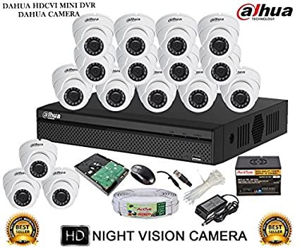 Dahua-DH-HCVR4116HS-S2-16CH-Dvr,-16(DH-HAC-HDW1000RP-360B)-Dome-Camera-(With-Accessories,2TB-HDD)