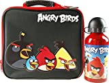 Angry Birds School Lunch Box Bag And Metal Drinking Bottle Flask