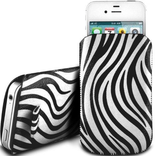 N4U Online White Zebra Premium Pu Leather Pull Flip Tab Case Cover Pouch For Samsung Galaxy S Blaze 4g T769