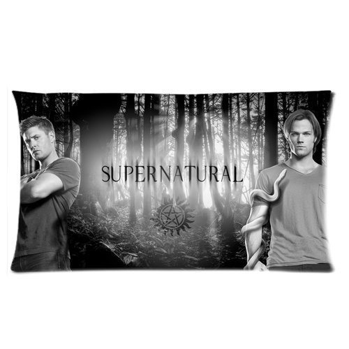 Custom TV Show Supernatural Cotton Pillowcase 20*36 inch Good Quality Dean And Sam Brothers Handsome Two Sides Printed Pillow Covers (Sam And Dean Doll compare prices)