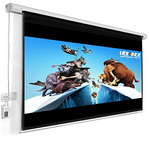 "Giantex 120"" 16:9 Motorized Electric Auto Projector Projection Screen Remote Control"