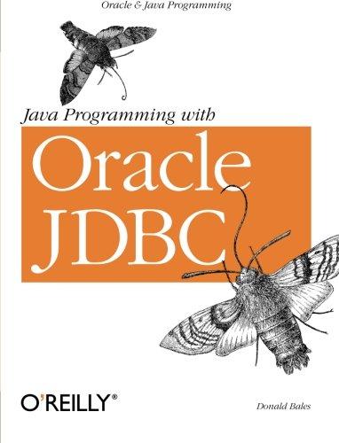 Java Programming with Oracle JDBC