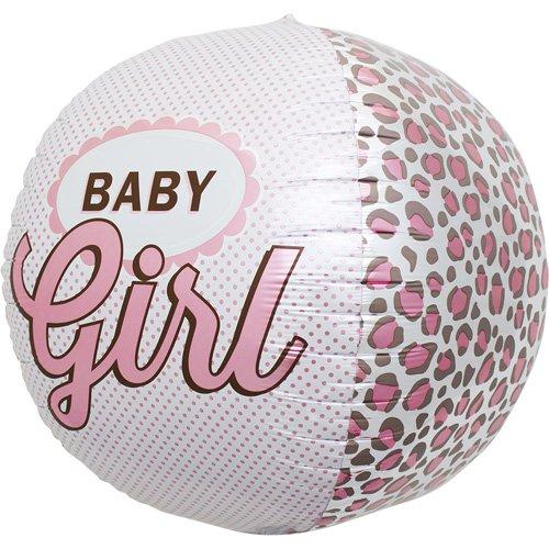 Baby Girl Sphere Helium Foil Balloon - 17 inch