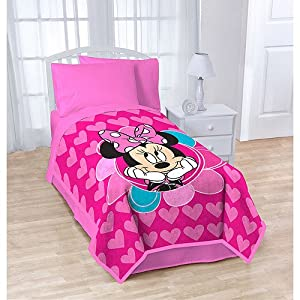 Disney Minnie Mouse Plush Blanket Pink 62x90 at Sears.com