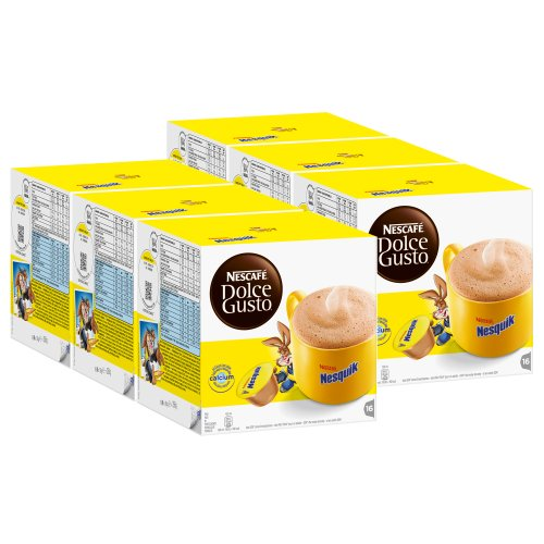 Shop for Nescafé Dolce Gusto Nesquik, Pack of 6, 6 x 16 Capsules by Nestlé