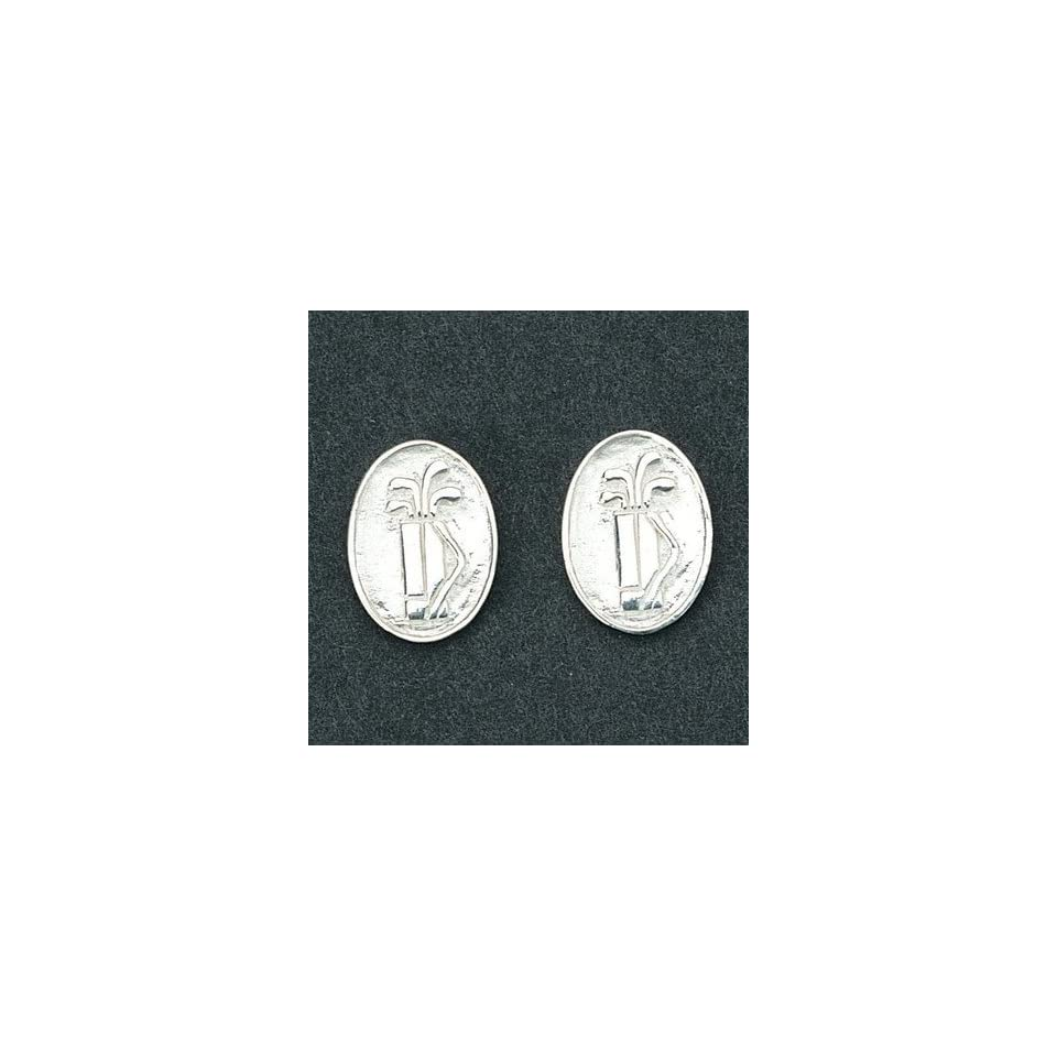 Golf Tee Time Sterling Silver Earrings Sports & Outdoors