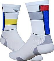 DeFeet Levitator Lite Legends LeMondster Sock: White/Red/Blue/Yellow; LG