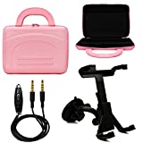 516wWE0DCtL. SL160  VG Druable Hard Shell Carrying Case for MSI S100 017US 64GB 10.1 Windows Tablet + Windshield Mount + Auxiliary Cable (Pink)
