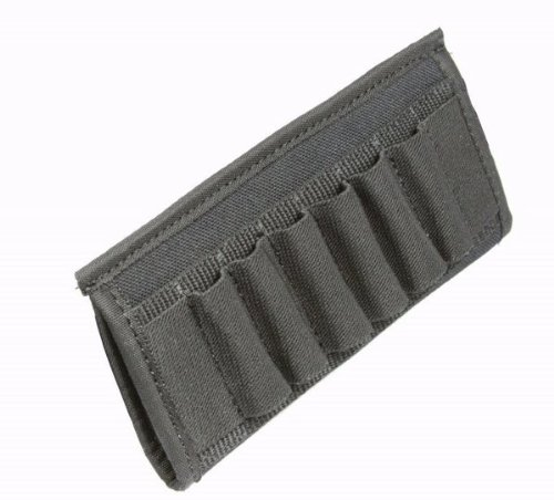 Ultimate Arms Gear Tactical Stealth Black 12 & 20 Gauge Shotgun 6 Shell Ammo Belt Slide-Pouch front-1075601