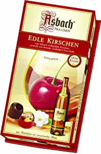Asbach Brandy Filled Chocolate Cherries in Gift Box, 3.5 Ounce