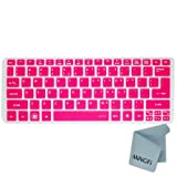 MiNGFi Silicone Keyboard Cover Protector Skin for Acer Aspire Ultrabook S3 S5 series Aspire 756 725 series US Keyboard Layout - Translucent Pink