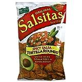 El Sabroso Original Salsitas, Spicy Salsa Tortilla Rounds, 12-Ounce Bags (Pack of 12)