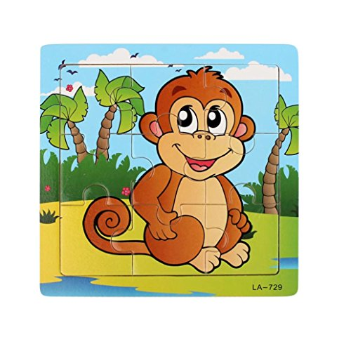 Monkey 9-Piece Wooden Jigsaw Puzzle