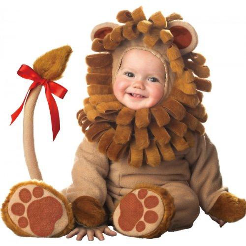 Lil Characters Unisex-baby Infant Lion Costume, Brown, 18 Months-2T