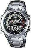 CASIO Edifice EFA-115D-1A1VEF - Reloj de caballero de cuarzo, correa de acero inoxidable color varios colores (con cronómetro, alarma, luz)