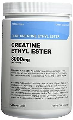 Creatine Ethyl Ester (CEE) - Pure Creatine Ethyl Ester - Rapid Absorption Creatine - 3000mg Per Serving