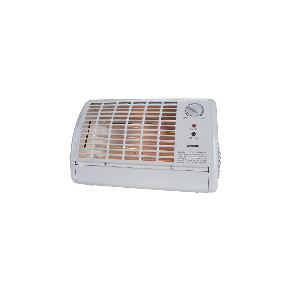 New   OPTIMUS H 2210 PORTABLE FAN FORCED RADIANT HEATER WITH THERMOSTAT by OPTIMUS