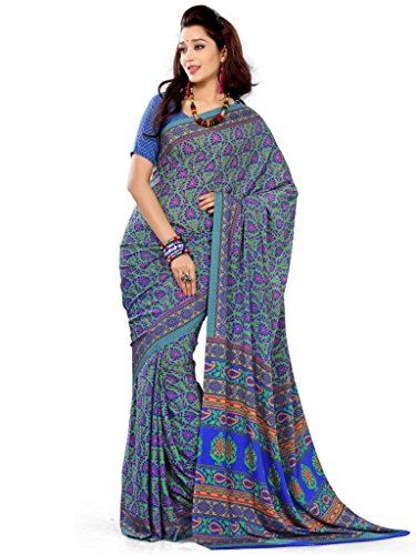 AIAB Art Silk Saree with Blouse Piece