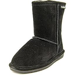 Bearpaw Girls EMMA Slip on Boot (Little Kid/Big Kid), Black, 5 M US Little Kid
