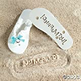 Just Married! Flip Flops-Fits Womans Size