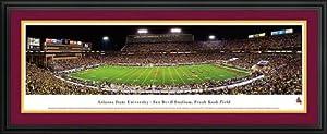 Buy Arizona State Sun Devils - Sun Devil Stadium - Frank Kush Field - Framed Poster Print by Laminated Visuals