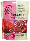 GoNaturally Organic Pomegranate Gluten Free Hard Candies, 3.5-Ounce Bags (Pack of 6)