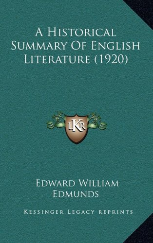 A Historical Summary of English Literature (1920)