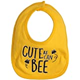Newborn Baby Baby Infant Kids Feeding Bib Cute As A Bee Printed 100% Soft Cotton Bib Suitable For Newborn To 24 Months