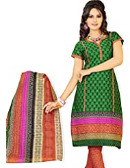 Atisundar Excellent Green And Pink Traditional Cotton Printed Salwar Suit- 4355_39_6034