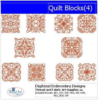 Machine Embroidery Designs - Quilt Blocks(4)