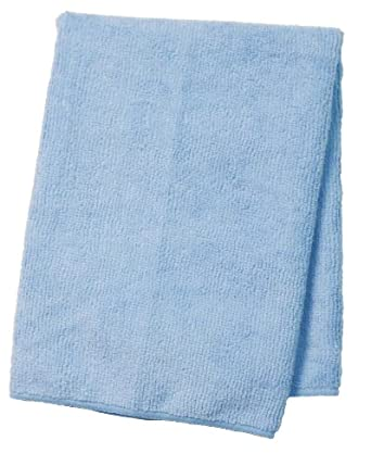 "Wilen E811016, Supremo Microfiber Cloth, 16"" Length x 16"" Width, Blue, Bulk Pack (Case of 180)"