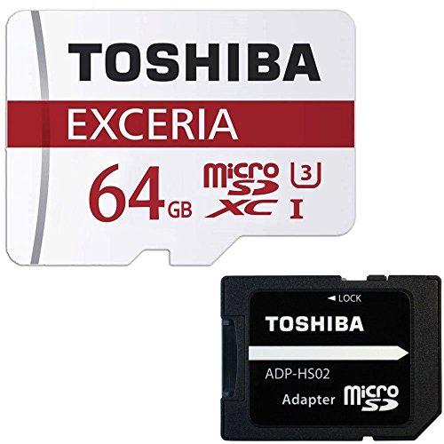 【 3年保証 】 東芝 Toshiba 超高速U3 4K対応 microSDXC 64GB 専用SDアダプ付 [並行輸入品]